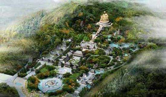 弥勒佛位于云南昆明东南方向140公里处的红河州弥勒县锦屏山顶上.图片