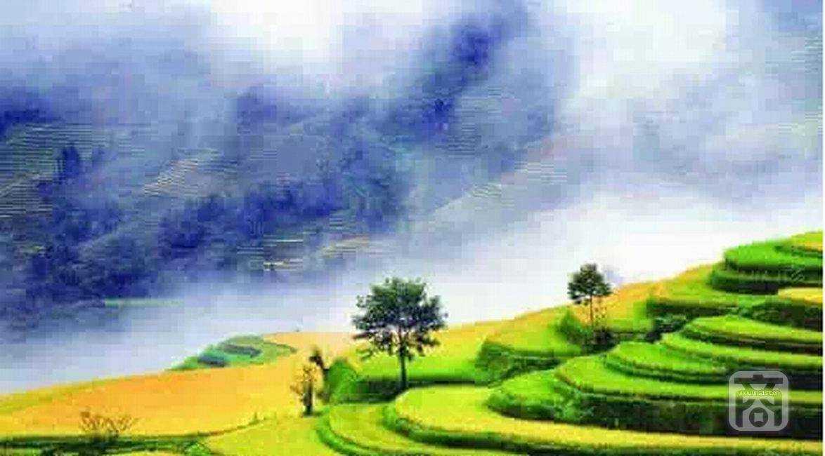 普洱风景简笔画